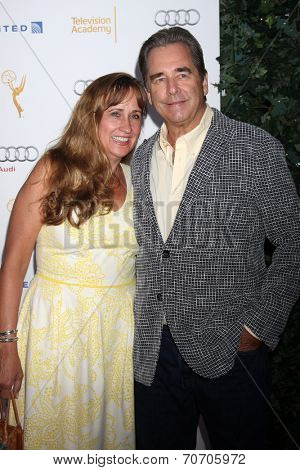 LOS ANGELES - AUG 23:  Wendy Bridges, Beau Bridges at the Television Academy's Perfomers Nominee Reception at Pacific Design Center on August 23, 2014 in West Hollywood, CA
