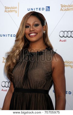 LOS ANGELES - AUG 23:  Laverne Cox at the Television Academy's Perfomers Nominee Reception at Pacific Design Center on August 23, 2014 in West Hollywood, CA