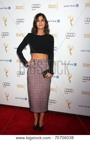 LOS ANGELES - AUG 23:  Lizzy Caplan at the Television Academy's Perfomers Nominee Reception at Pacific Design Center on August 23, 2014 in West Hollywood, CA