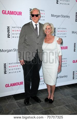 LOS ANGELES - AUG 23:  T Bone Burnett, Callie Khouri at the 3rd Annual Women Making History Brunch at Skirball Center on August 23, 2014 in Los Angeles, CA