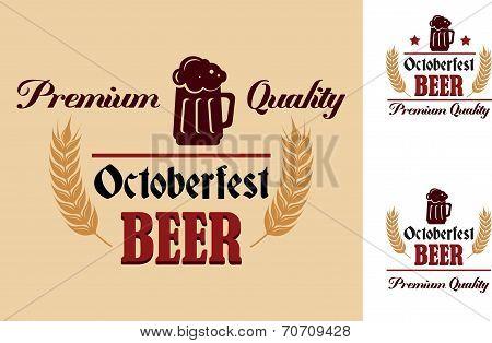 Retro beer label or emblem