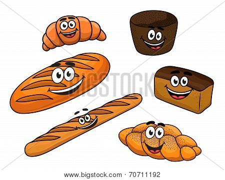 Cartoon bread bakeries