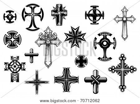 Religious crosses set
