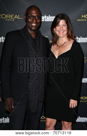 LOS ANGELES - AUG 23:  Lance Reddick at the 2014 Entertainment Weekly Pre-Emmy Party at Fig & Olive on August 23, 2014 in West Hollywood, CA