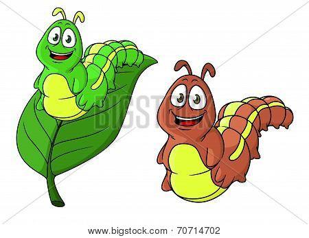 Cartoon caterpillar character