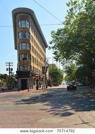 VANCOUVER, CANADA JULY 13: View of a Gastown Street on July 13, 2014 From Gastown.