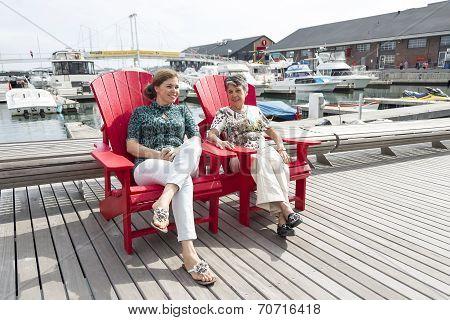 Women Relaxing Outdoors