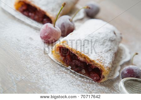 Traditional Romanian And Moldovan Dessert With Sour Cherries - Invertita