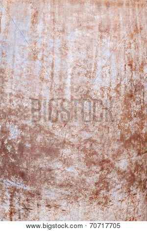Rusted metal wall