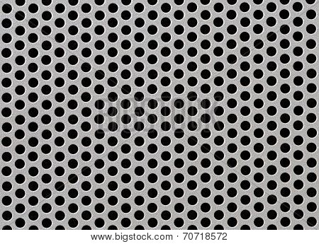 Metal Textured Pattern With Round Cells As Industrial Background