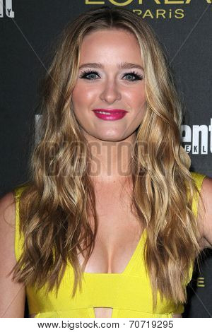 LOS ANGELES - AUG 23:  Greer Grammer at the 2014 Entertainment Weekly Pre-Emmy Party at Fig & Olive on August 23, 2014 in West Hollywood, CA