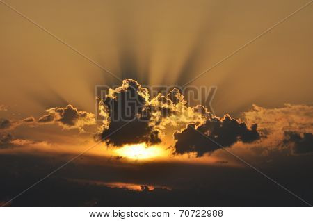 Sun Behind The Clouds, Sunrise
