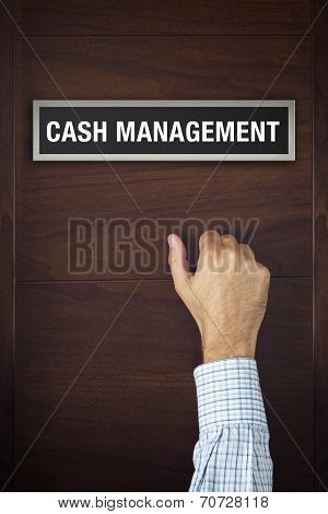 Hand Is Knocking On Cash Management Door