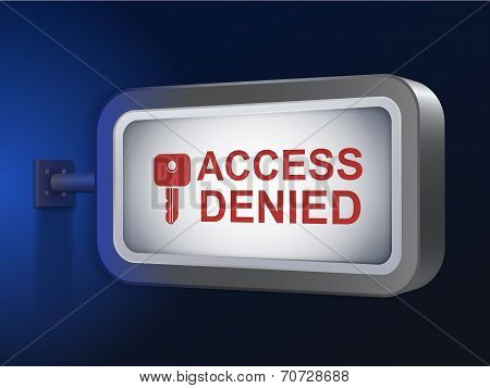 Access Denied Words On Billboard