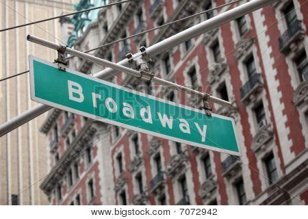 Broadway Sign In Manhattan, New York