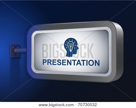 Presentation Word On Billboard