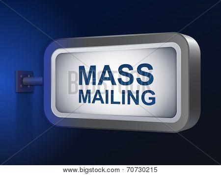 Mass Mailing Words On Billboard