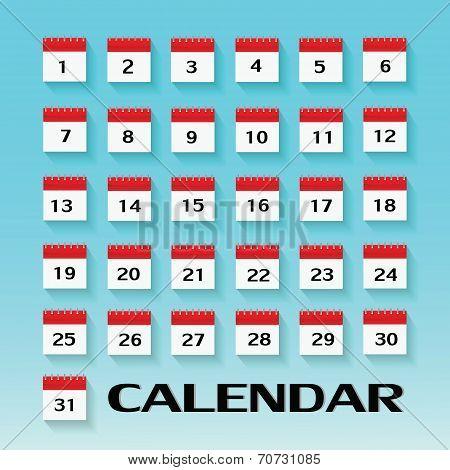 Calendar Icon. Vector Illustration