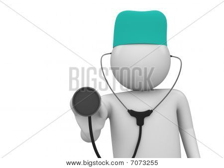 Physician At Work Close-up