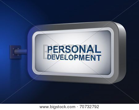 Personal Development Words On Billboard