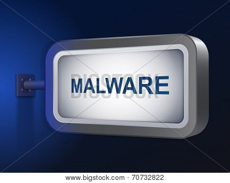 Malware Word On Billboard