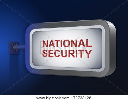 National Security Words On Billboard