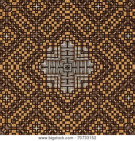 3D Brown Pyramid Pattern