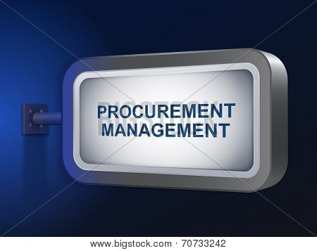 Procurement Management Words On Billboard