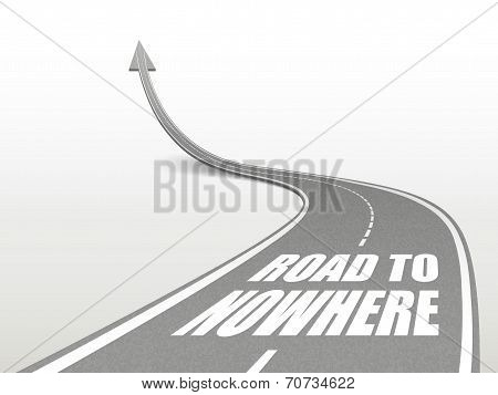 Road To Nowhere Words On Highway Road