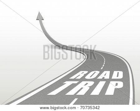 Road Trip Words On Highway Road