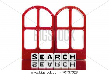 Search Text On Red Door Frames