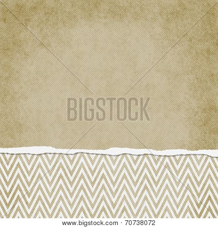 Square Beige And White Zigzag Chevron Torn Grunge Textured Background