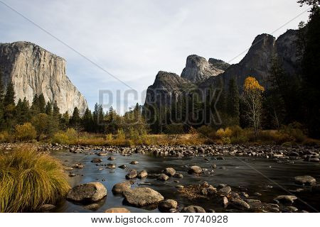 El Capitan in Yosemite from Merced river