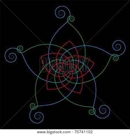 Flower of the Venus Calligraphic Black