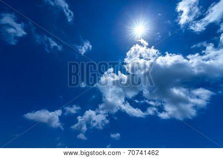 Sun In The Bright Blue Sky