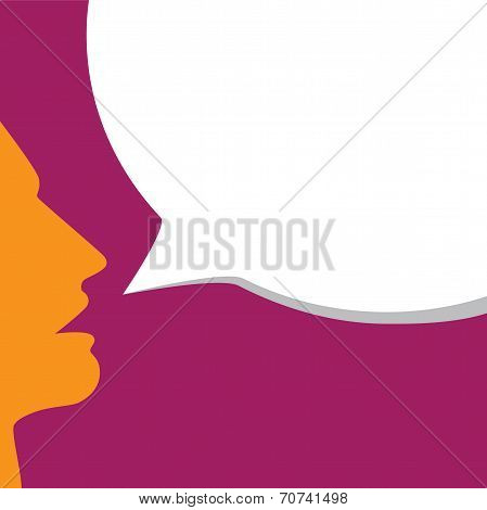 Stylish Young Man's Face Announcing Offer, Sale - Concept Vector
