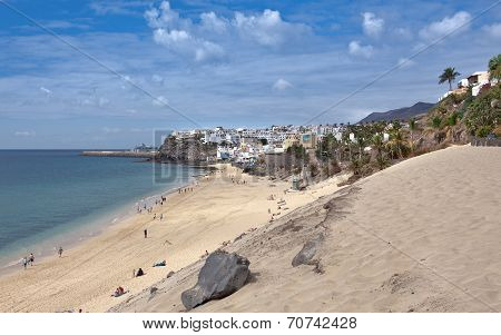 Morro Jable - Beach with townscape