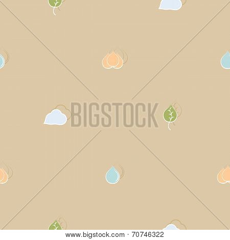 Seamless pattern on environmental issues