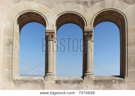 Ancient Archs With View Into The Sky