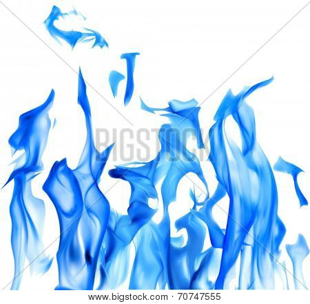 illustration with bright flame on white background