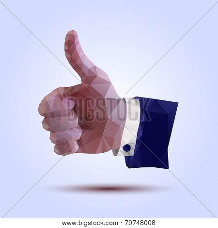 polygonal hand sign