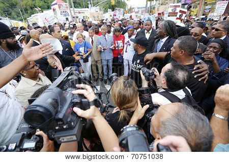 Rev Sharpton with marchers