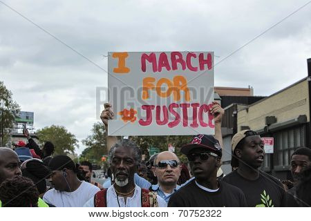 I March for Justice sign