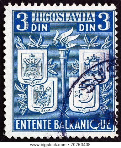 Postage Stamp Yugoslavia 1940 Balkan Entente