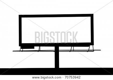 Blank Large billboard silhouette for your advertisement