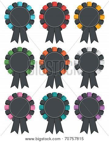 Black Rosette Decorations