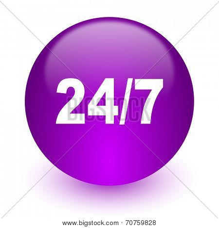 24/7 internet icon