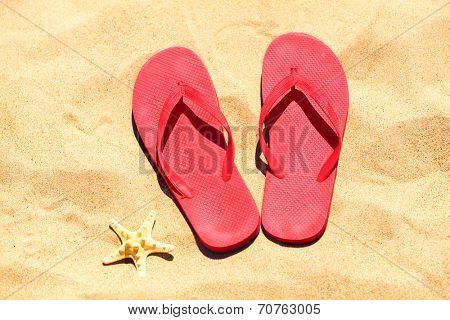 Flip-flops on a sand