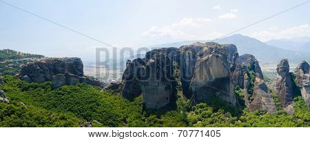 Greece, Meteora, The View From The Observation Deck