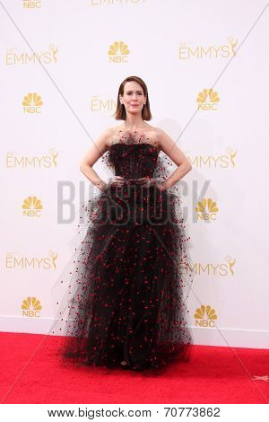 LOS ANGELES - AUG 25:  Sarah Paulson at the 2014 Primetime Emmy Awards - Arrivals at Nokia Theater at LA Live on August 25, 2014 in Los Angeles, CA